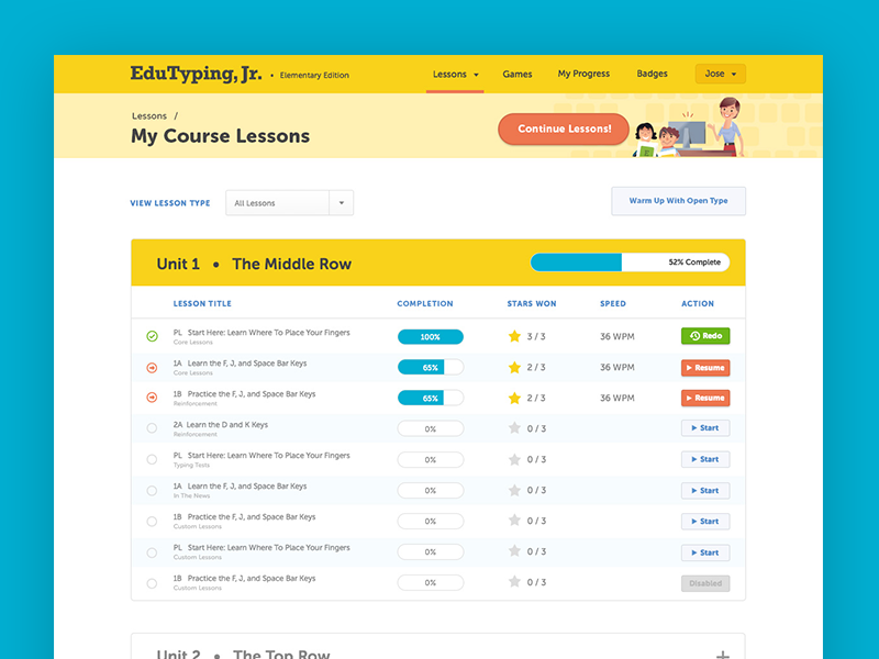 EduTyping Course Listing